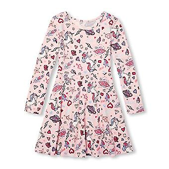 The Children's Place Big Girls Long Sleeve Pleated, Rosewater, Size X-Large