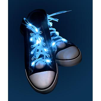 Light Up laces blue blue blue, made of polyester, battery operated.