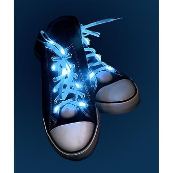 Light Up Schnürsenkel blau  blau, aus Polyester, batteriebetrieben.