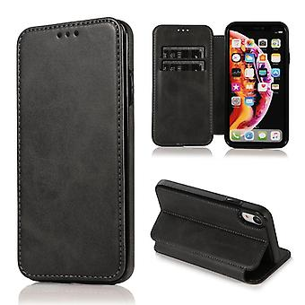CaseGate phone case for Apple iPhone XR case cover - magnetic clasp, stand function and card compartment
