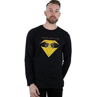 DC Comics Men's Birds Of Prey Black Mask Club Diamond Long Sleeved T-Shirt