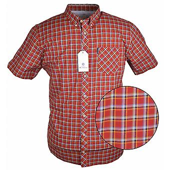 BEN SHERMAN Ben Sherman Check Button Down Kurzarm Shirt