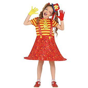 Girls Little Clown Fancy Dress Costume