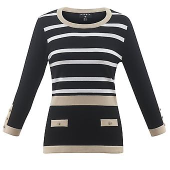 MARBLE Marble Black Sweater 5603