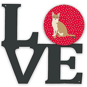 Carolines Treasures  CK5789WALV Singapura Cat Love Metal Wall Artwork LOVE