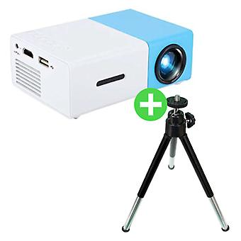 Salange YG300 LED Projector & Tripod - Mini Projector Home Media Player Blue