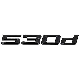 Gloss Sort BMW 530d bilmodel bag boot nummer brev mærkat decal badge emblem for 5-serien E93 E60 E61 F10 F11 F07 F18 G30 G31 G38