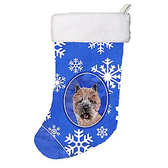 Norwich Terrier Winter Snowflakes Christmas Stocking
