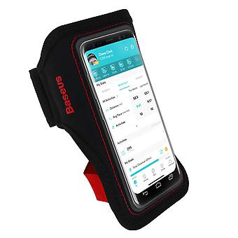 Sport karszalag okostelefon akár 5'' Attachment Card Holder-Baseus Black/Red
