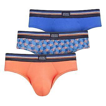Jockey Cotton Stretch 3-Pack Hip Briefs, Nebulas Blue, XX-Large