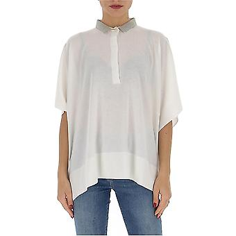 Fabiana Filippi Mad260w113a500081 Women's White Cashmere Polo Shirt
