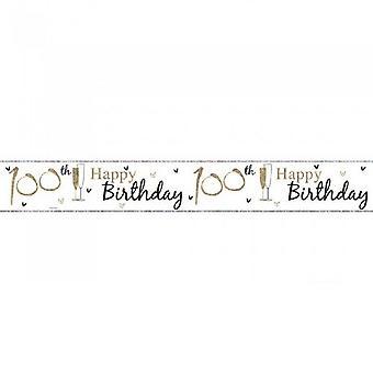 Simon Elvin 100th Birthday Foil Banner (Pack of 6)