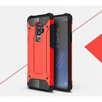Stuff Certified® Samsung Galaxy S9 - Armor Case Cover Cas Red TPU Case