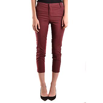 Alysi Ezbc134014 Women's Burgundy Cotton Pants