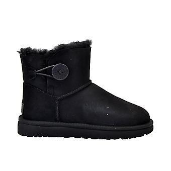 Ugg Minibaileybuttonblack Women's Black Suede Ankel Støvler