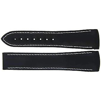 Authentic omega watch strap 22mm rubber - black deployment wcp08259