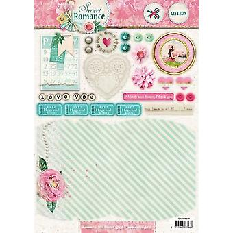 Studio Light Easy 3D Die cut sheet A4 Sweet Romance nr 519 EASYSR519