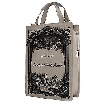 Restyle - grey book bag - alice in wonderland - grey