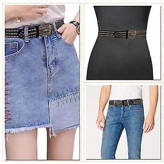 Punk Style Belt Roller Buckle Studded Pyramid Studs PU Strap in pelle