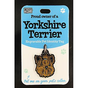 Wags & Whiskers Pet Identity Tag - Yorkshire Terrier