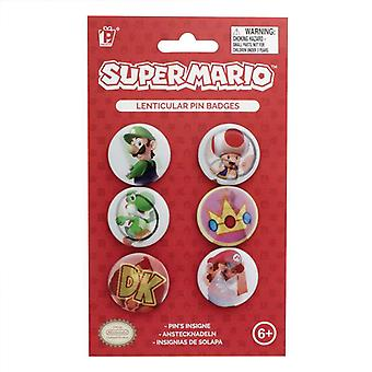 Super Mario Pin Badge Set