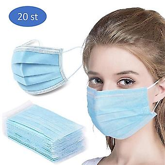 20PCS Disposable protective anti-dust face mask,munskydd, mundschutz
