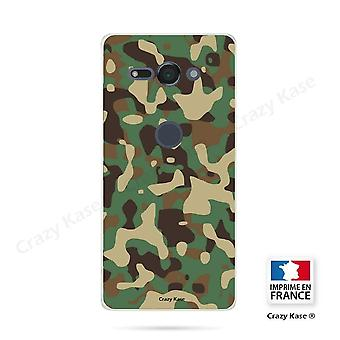 Hull For Sony Xperia Xz2 Compact Soft Military Camouflage Pattern