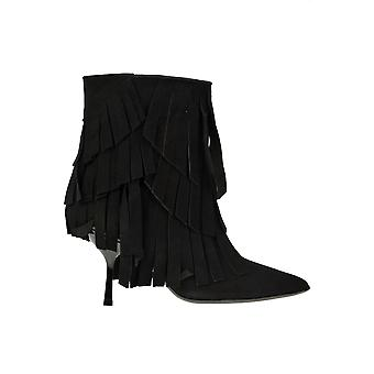 Ncub Ezgl391017 Women's Black Suede Ankle Boots