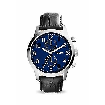 Fossil FS5020 Townsman Chronograph Blue Dial Black Leather Men's Watch