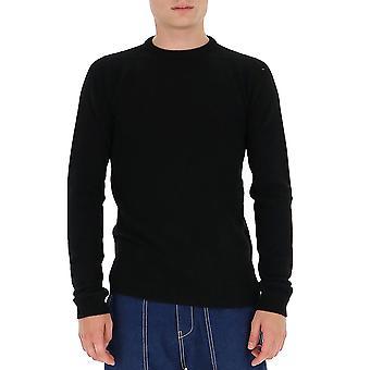 Rick Owens Ru20f3684wsbr09 Men's Black Cashmere Sweater
