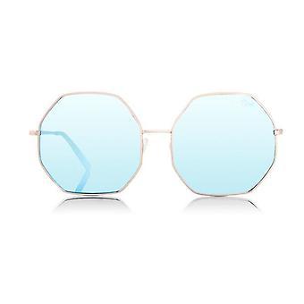Quay Australia Women Kiss And Tell Sunglasses Rose Blue