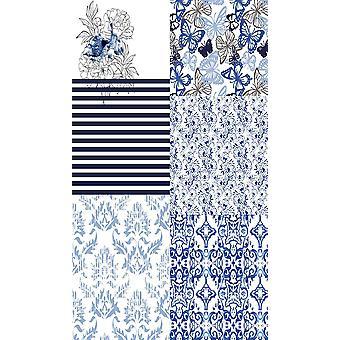 Blau Patchwork 1 Multicolor bedrucktteppich aus Polyester, Baumwolle, L120xP180 cm