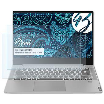 Bruni 2x Schutzfolie kompatibel mit Lenovo IdeaPad S540 14 Inch Folie
