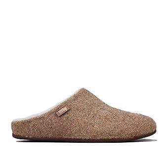 Women's Fit Flop Chrissie Glimmerwool Shearling Slippers in Gold
