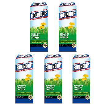 Sparset: 5 x ROUNDUP® Lawn Weed-Free, 500 ml