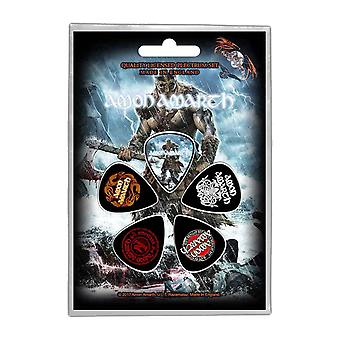 Amon Amarth Plectrum Pack Jomsviking Band Logo Official 5 Pack Guitar Picks