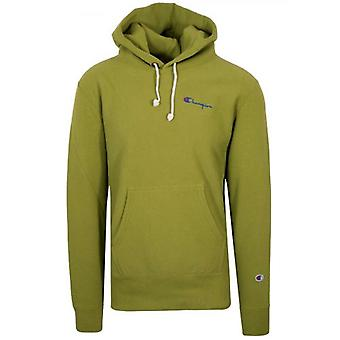 Champion Reverse Weave Moss Green Hooded Sweatshirt