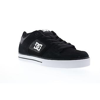 DC Pure  Mens Gray Suede Athletic Lace Up Skate Shoes