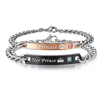 Love náramky-manželské šperky-její princ/princezna