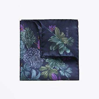 Eton  - Floral Pocket Square - Navy/Multi