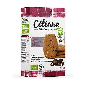 Bio 150 g chocolate and seed breakfast cookies