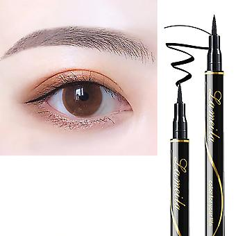 Waterproof Black Liquid Eyeliner Pencil, Big Eyes Makeup Long Lasting, Smooth