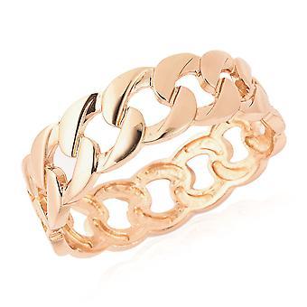Manchet armbånd i gul guld tone for kvinder størrelse 8