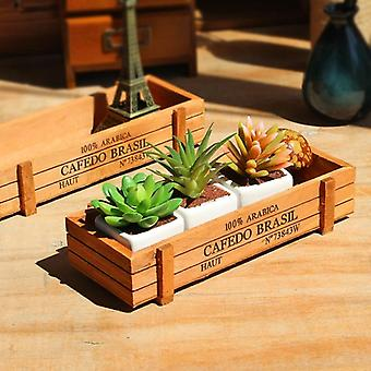 Classic Antique Wooden Storage Boxes/table Sundries Container - Cosmetics