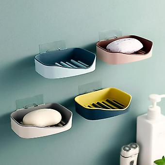 Wall Mounted, Double Layer Soap And Sponge Dish