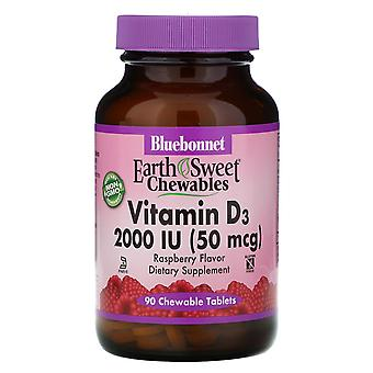 Bluebonnet Nutrition, EarthSweet Chewables, Vitamin D3, Natural Raspberry Flavor