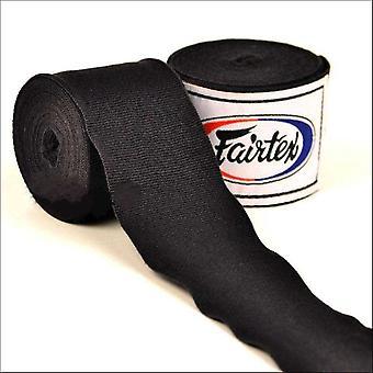 Fairtex 4.5m stretch hand wraps - black