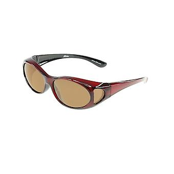 Sunglasses Unisex red with brown lens Vz0002pl