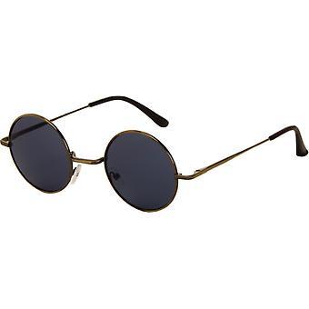 Okulary przeciwsłoneczne Unisex wokół szarości z szarą soczewką (AZB-051)