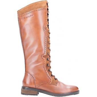 Hush Puppies Rudy Ladies Leather Tall Boots Tan
